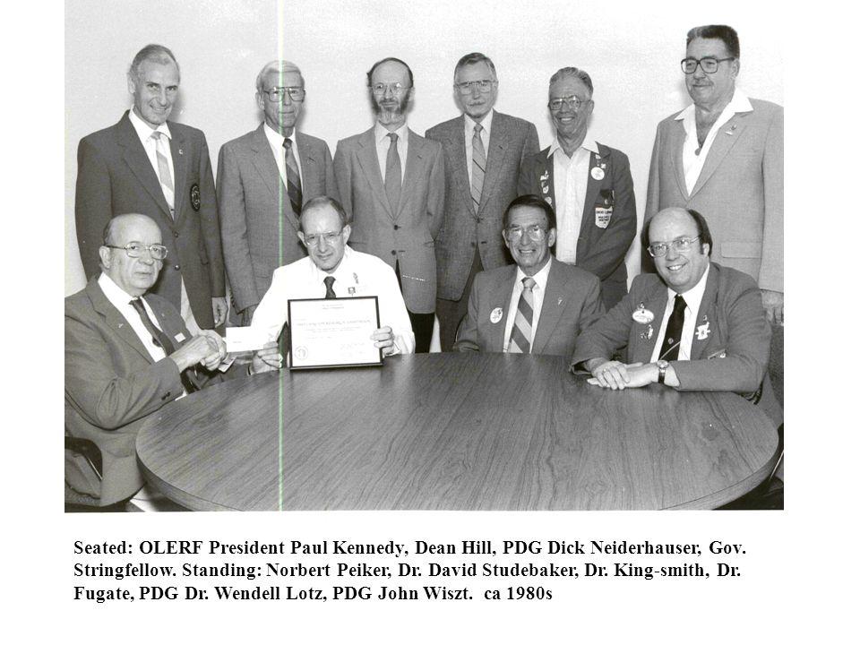 OLERF Board members at U. of Cincinnati doing the Wave. ca 1997