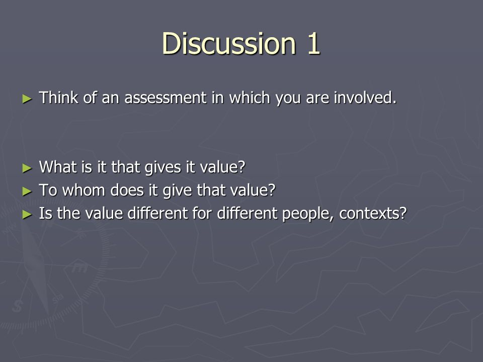 Some notions of validity Different types of validity (eg Cohen, Manion and Morrison, 2007; Ripley, 2007; Gipps and Murphy, 1994; Messick, 1988) Different types of validity (eg Cohen, Manion and Morrison, 2007; Ripley, 2007; Gipps and Murphy, 1994; Messick, 1988) A unitary concept (Gronlund, 2005) A unitary concept (Gronlund, 2005) To do with predictive value, authenticity (Tomari and Borich, 1999) To do with predictive value, authenticity (Tomari and Borich, 1999) Encompasses reliability (Gronlund, 2005) Encompasses reliability (Gronlund, 2005)