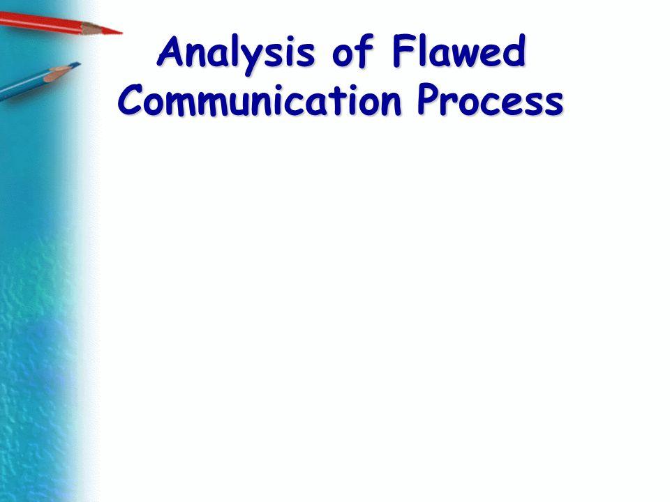 Analysis of Flawed Communication Process