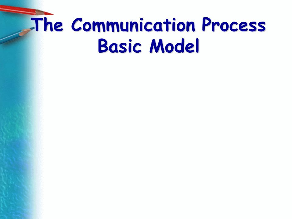 The Communication Process Basic Model