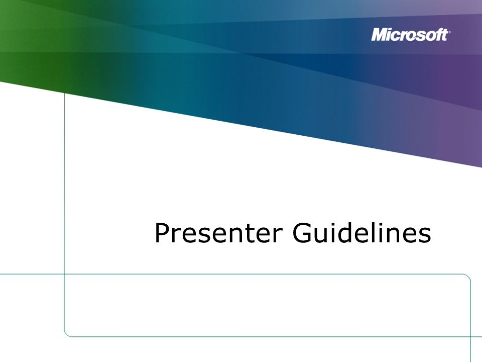 Presenter Guidelines