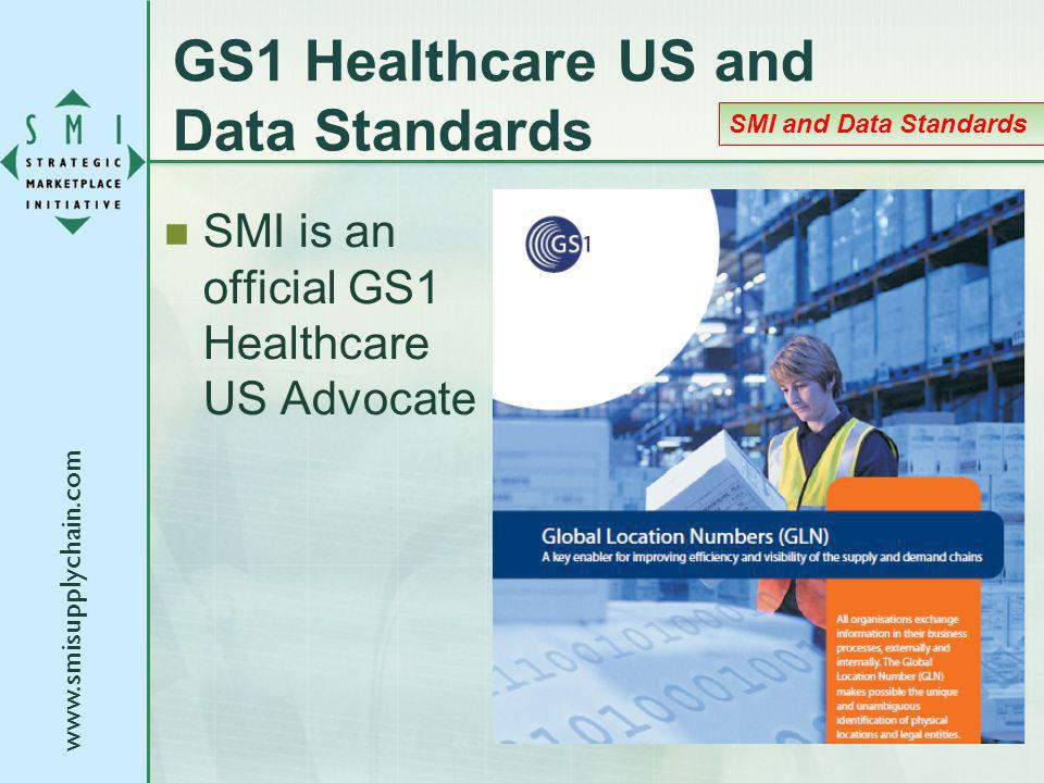www.smisupplychain.com GS1 Healthcare US and Data Standards SMI is an official GS1 Healthcare US Advocate SMI and Data Standards