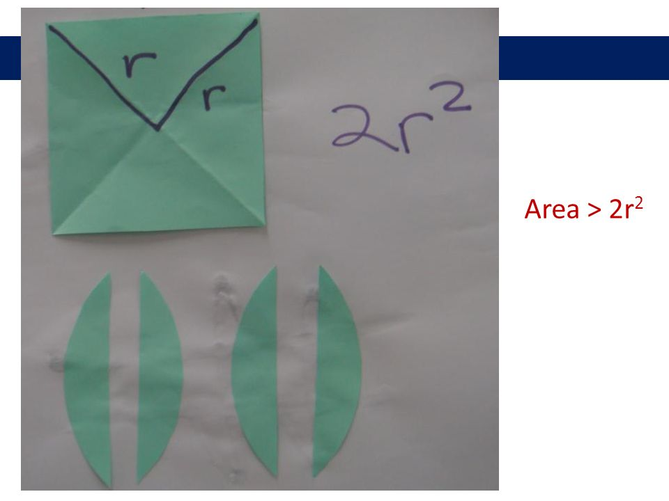 Area > 2r 2