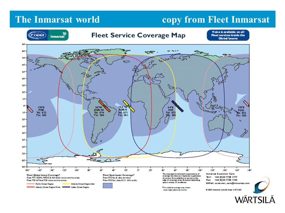 The Inmarsat world copy from Fleet Inmarsat