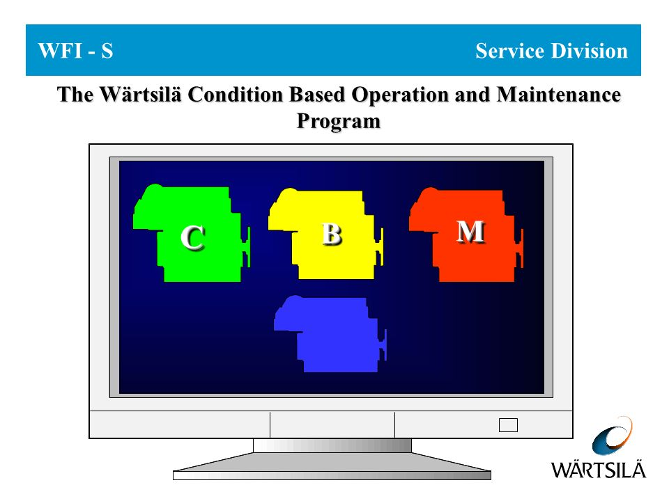 WFI - S Service Division The Wärtsilä Condition Based Operation and Maintenance Program CC BB MM