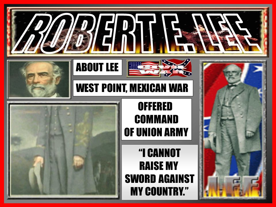 LINCOLN LOOKS FOR A COMMANDER TO LEAD THE UNION ARMY ONLY REAL QUALIFIED COMMANDER IS WINFIELD SCOTT – NOT IN HIS PRIME SCOTT SUGGESTS ROBERT E.