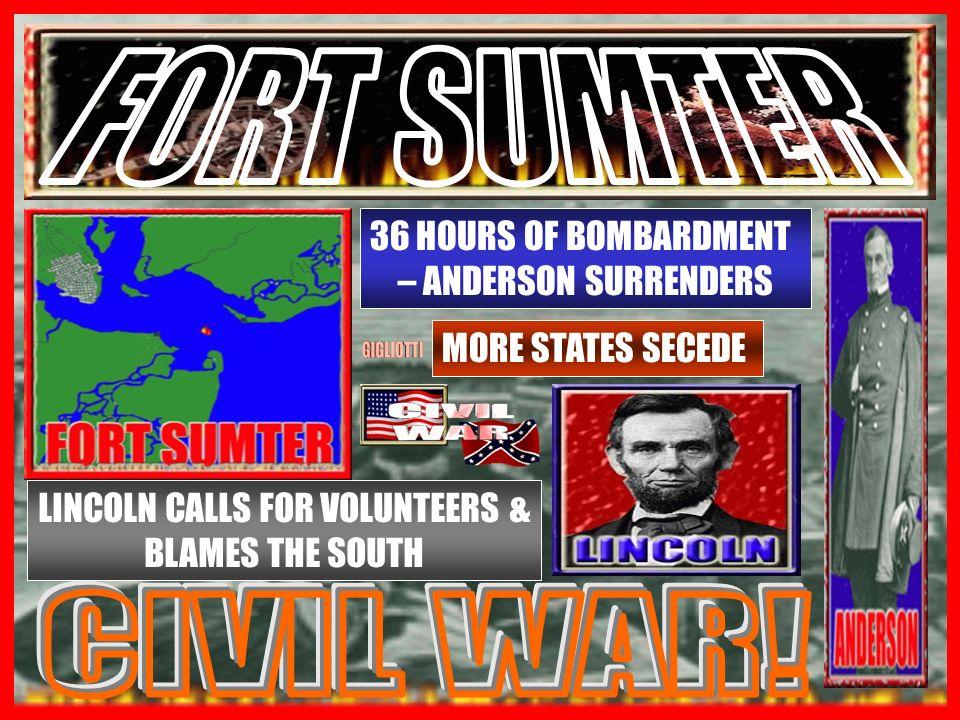 APRIL 1861 CHARLESTOWN SC – UNION FORT SC ATTACKS!