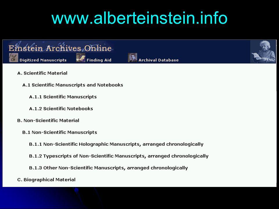 www.alberteinstein.info