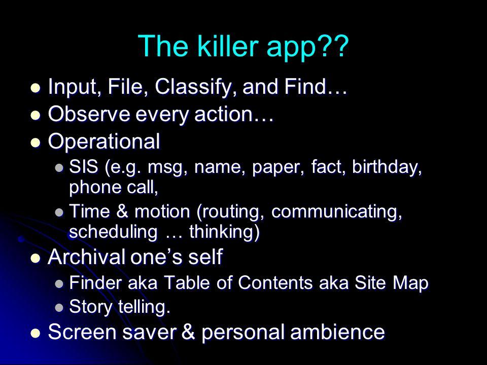 The killer app .