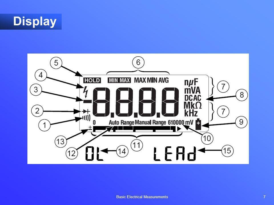 Basic Electrical Measurements 7 Display