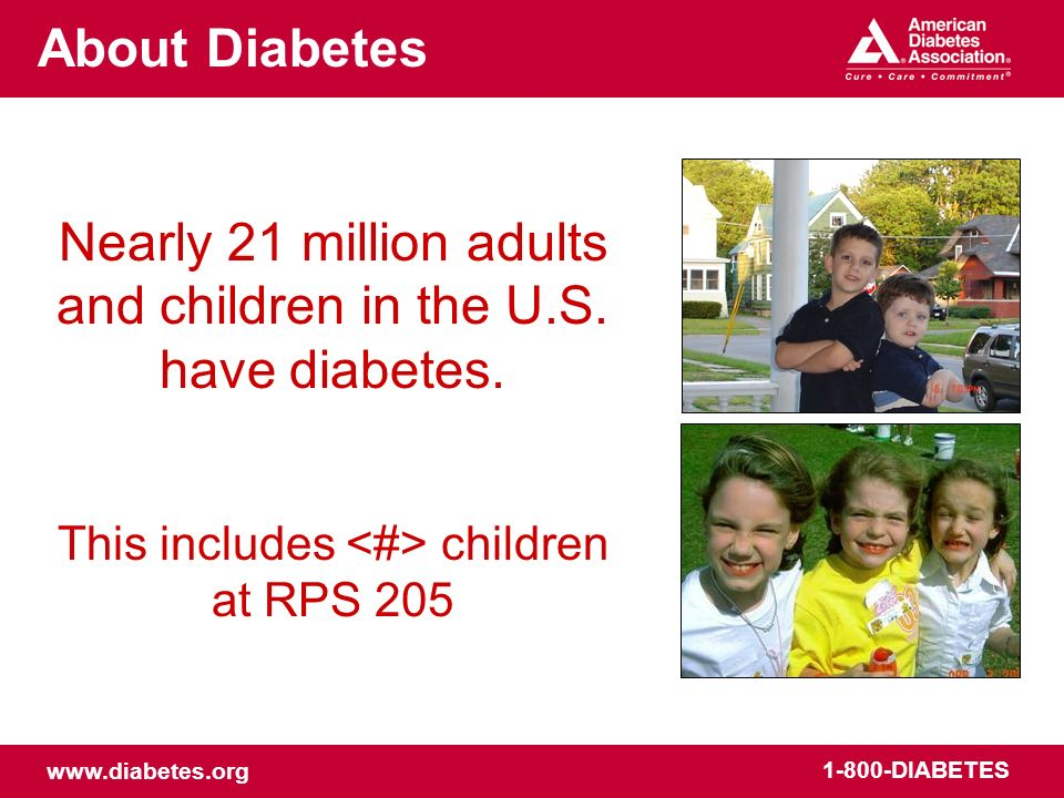 www.diabetes.org 1-800-DIABETES About Diabetes What is diabetes.