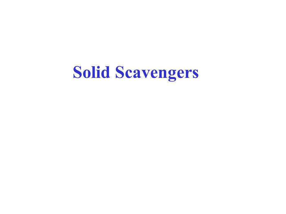 Solid Scavengers