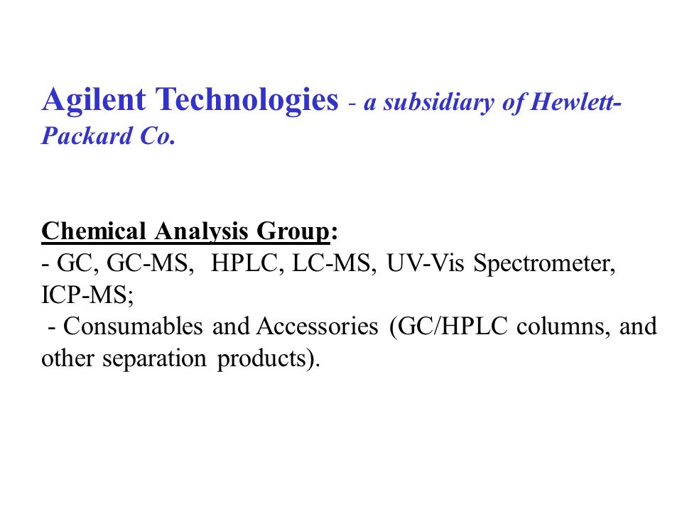 Shopping on the web www.agilent.com/chem - shopping village -- consumables & accessories -- combinatorial chemistry