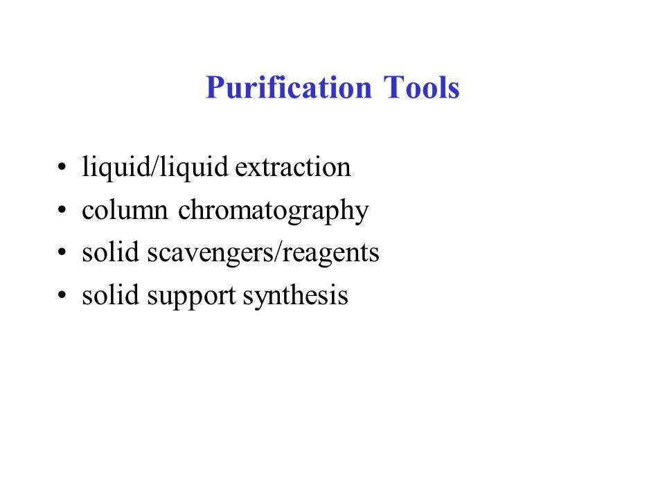 Liquid/liquid extraction Mechanism: partition between two immiscible solvents, i.e.
