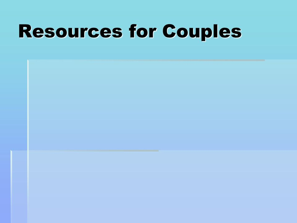 Resources for Couples