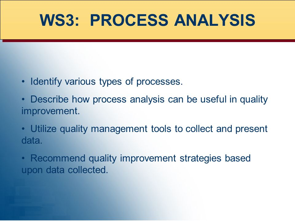 Identify various types of processes.