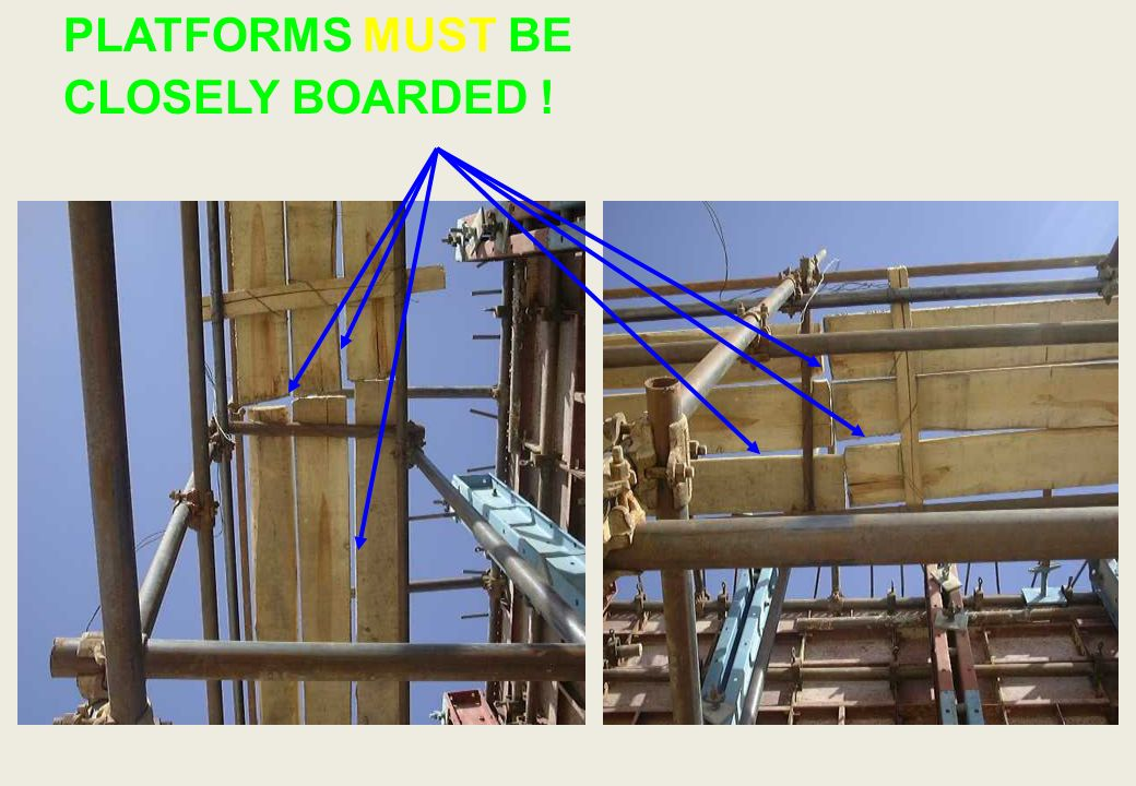 Is it really a safe working platform? Where is the access ladder ?