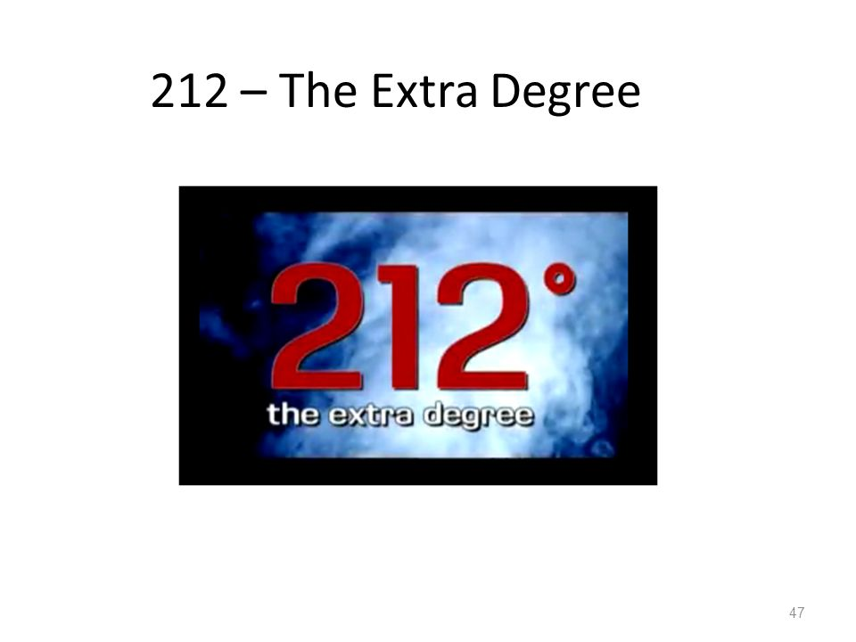 212 – The Extra Degree 47
