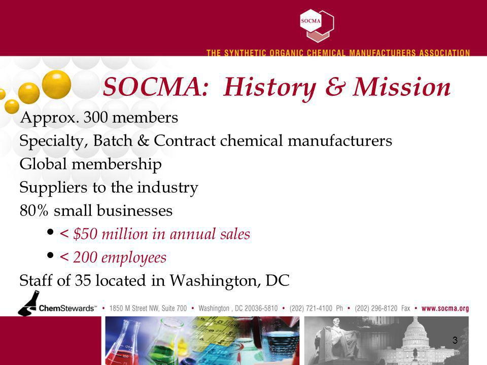 SOCMA: History & Mission Approx.