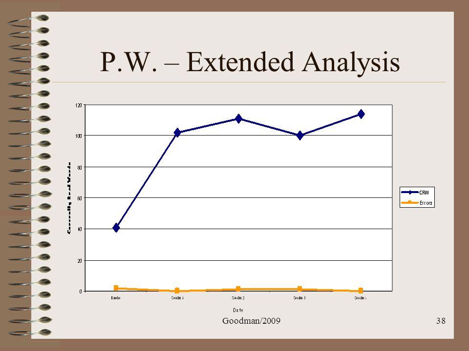 Goodman/200938 P.W. – Extended Analysis