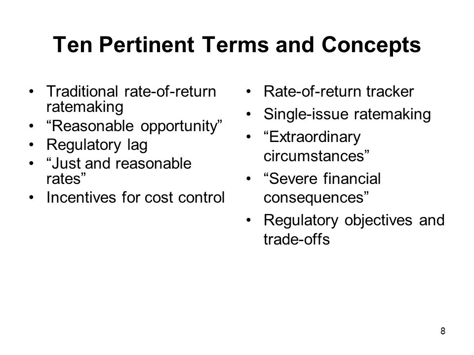 9 Questions for Regulators What minimum threshold should regulators set for approval of a cost tracker.
