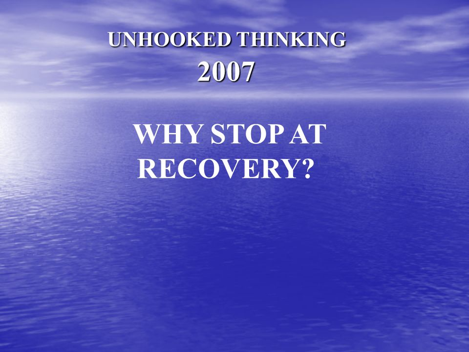 The Continuum of Recovery from Addiction ???? Addiction