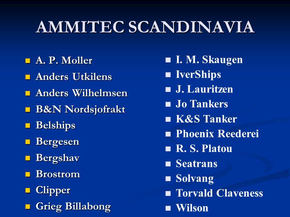 AMMITEC SCANDINAVIA A. P. Moller A. P. Moller Anders Utkilens Anders Utkilens Anders Wilhelmsen Anders Wilhelmsen B&N Nordsjofrakt B&N Nordsjofrakt Be