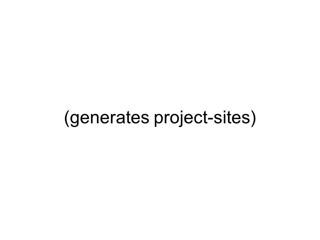 (generates project-sites)