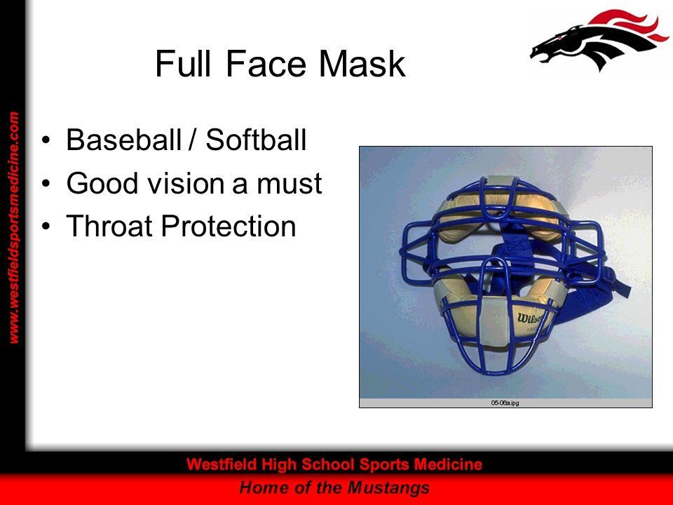 Full Face Mask Baseball / Softball Good vision a must Throat Protection