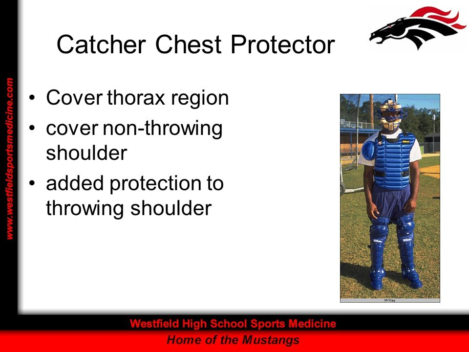 Catcher Chest Protector Cover thorax region cover non-throwing shoulder added protection to throwing shoulder