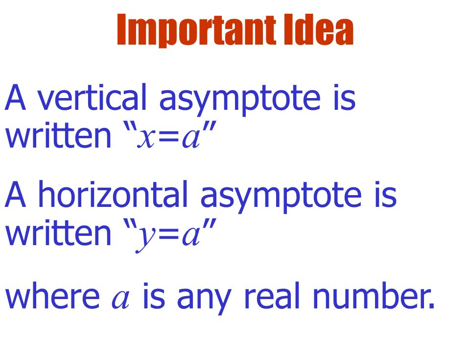 A function has an infinite limit at a if f(a) as x a. f(x) is unbounded at x=a. f(x) Definition The line x = a is a vertical asymptote