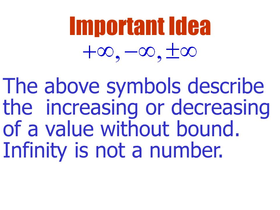 Example Find the limit if it exists: How does this problem differ from the previous problem?