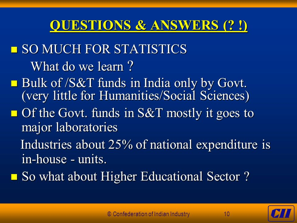 © Confederation of Indian Industry10 QUESTIONS & ANSWERS (.