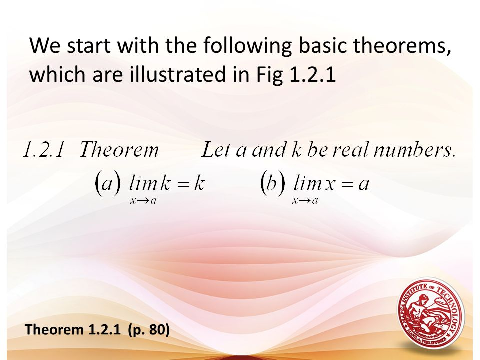 We start with the following basic theorems, which are illustrated in Fig 1.2.1 Theorem 1.2.1 (p. 80)