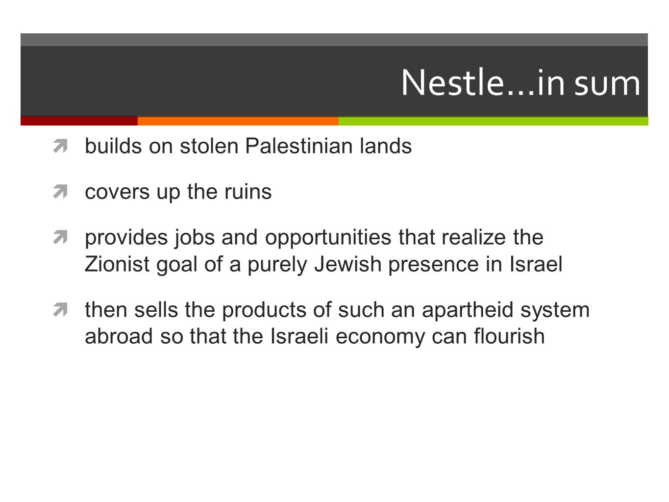 Nestle-Osem runs a 700 m2 factory in Sderot, in 2002 the company opened a 1,700 m2 research and development (R&D) center there.
