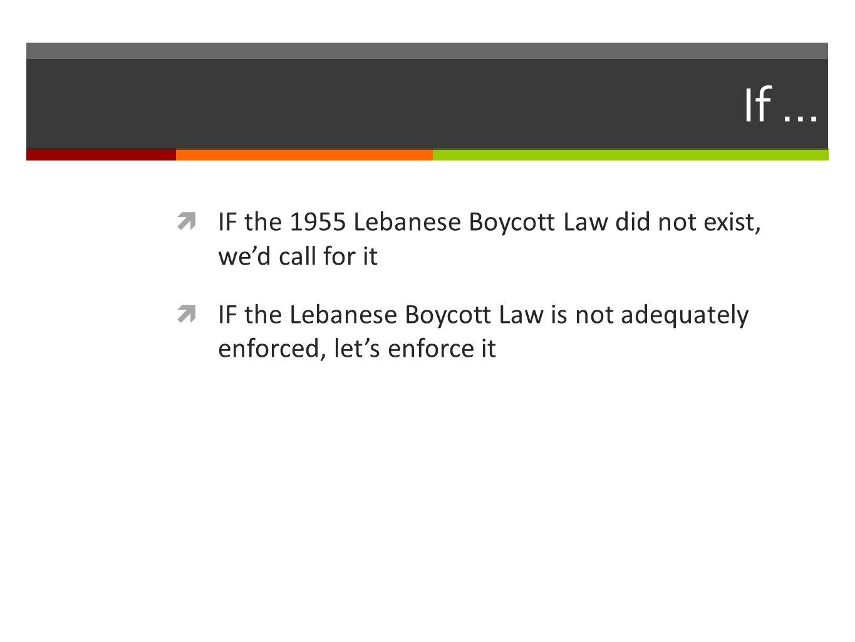 1955 Lebanese Boycott Law