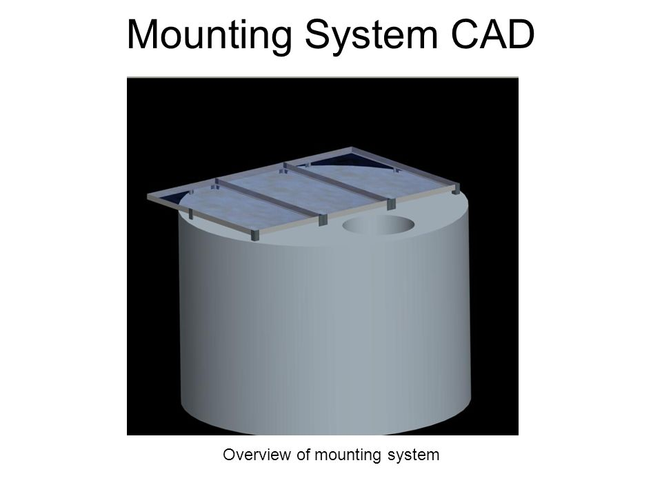 Mounting System CAD Overview of mounting system