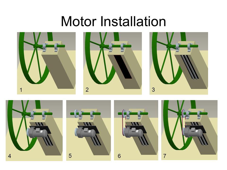 Motor Installation 1 23 4 5 67