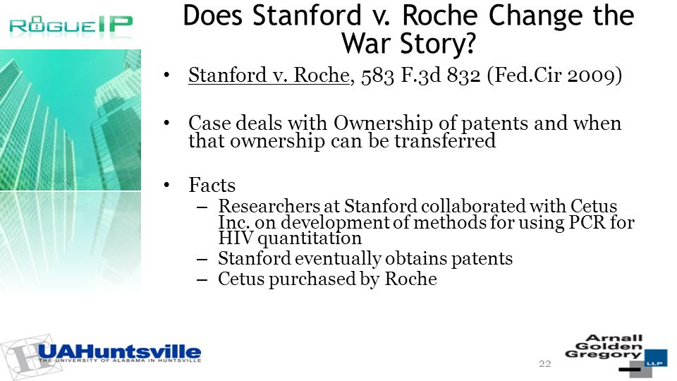 Does Stanford v. Roche Change the War Story. Stanford v.