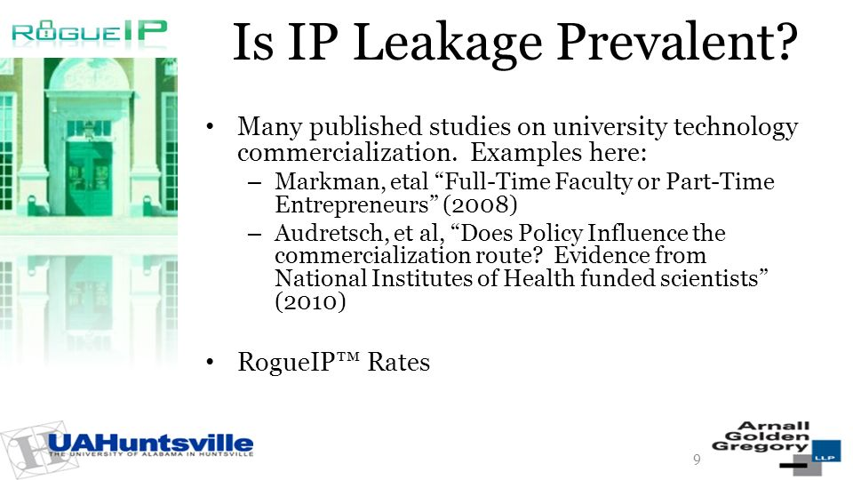 Is IP Leakage Prevalent. Many published studies on university technology commercialization.