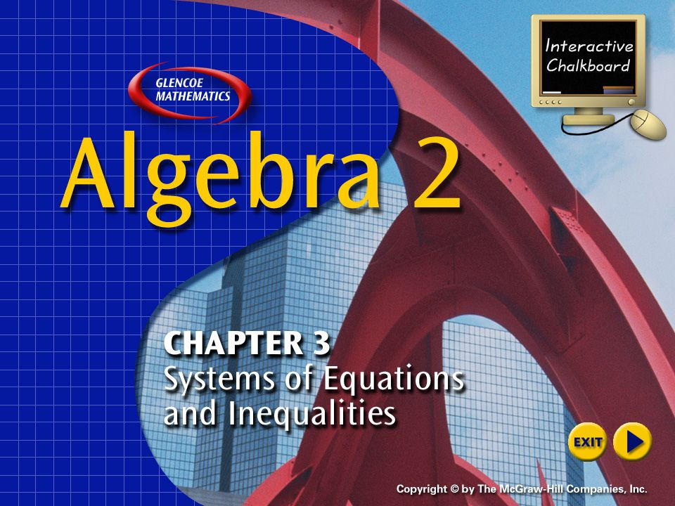 Example 2-3b Use the elimination method to solve the system of equations. Answer: (17, –4)