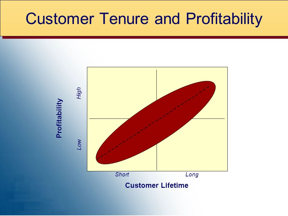 ShortLong Customer Lifetime Low High Profitability Customer Tenure and Profitability