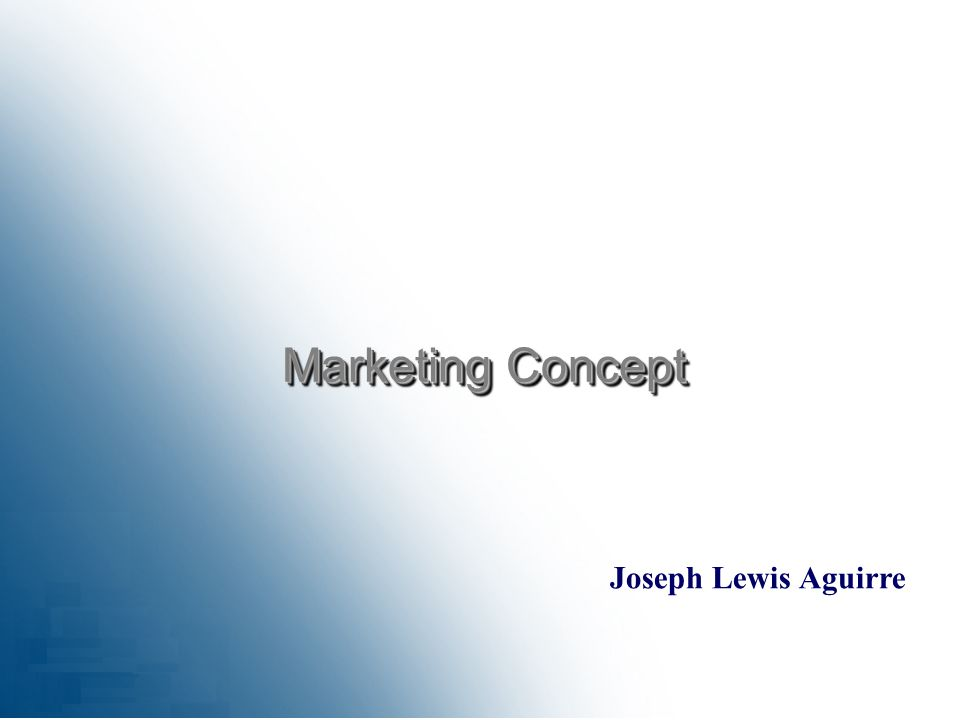 Joseph Lewis Aguirre Marketing Concept