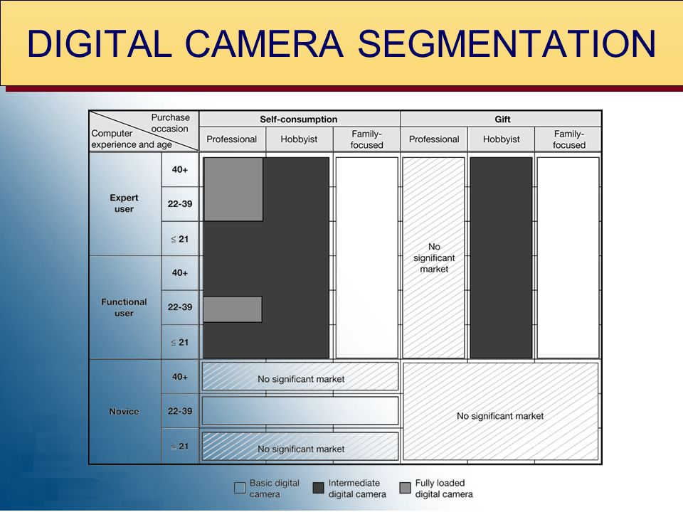 DIGITAL CAMERA SEGMENTATION