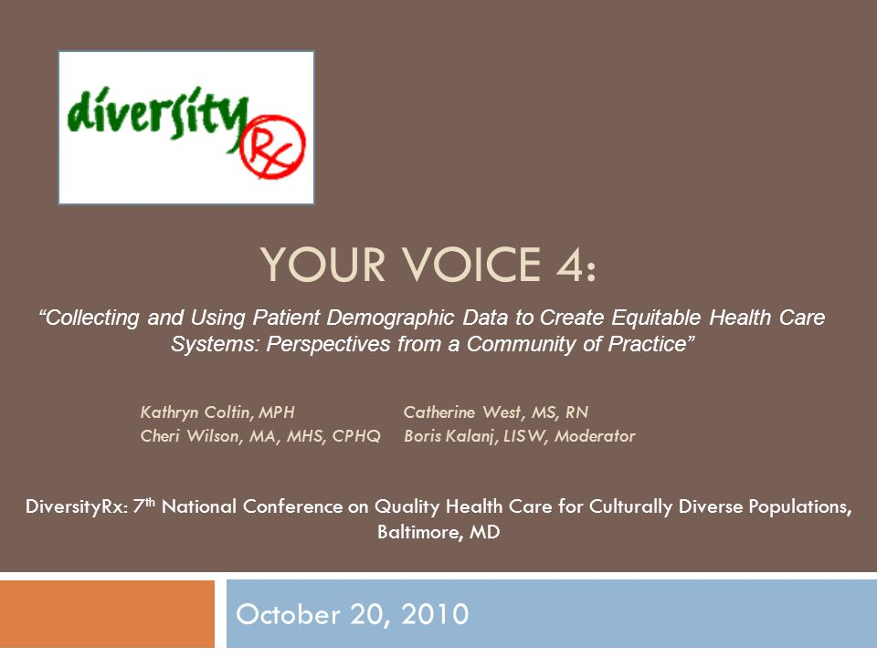 Collecting, Reporting and Using REaL Data To Reduce Health Care Disparities Kathryn Coltin Harvard Pilgrim Health Care Diversity Rx Community of Practice 3 October 2010