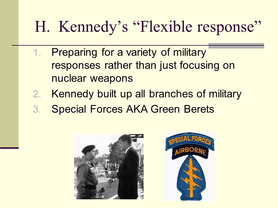 H. Kennedys Flexible response 1.