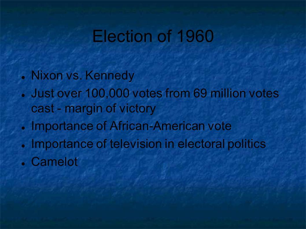 Election of 1960 Nixon vs.