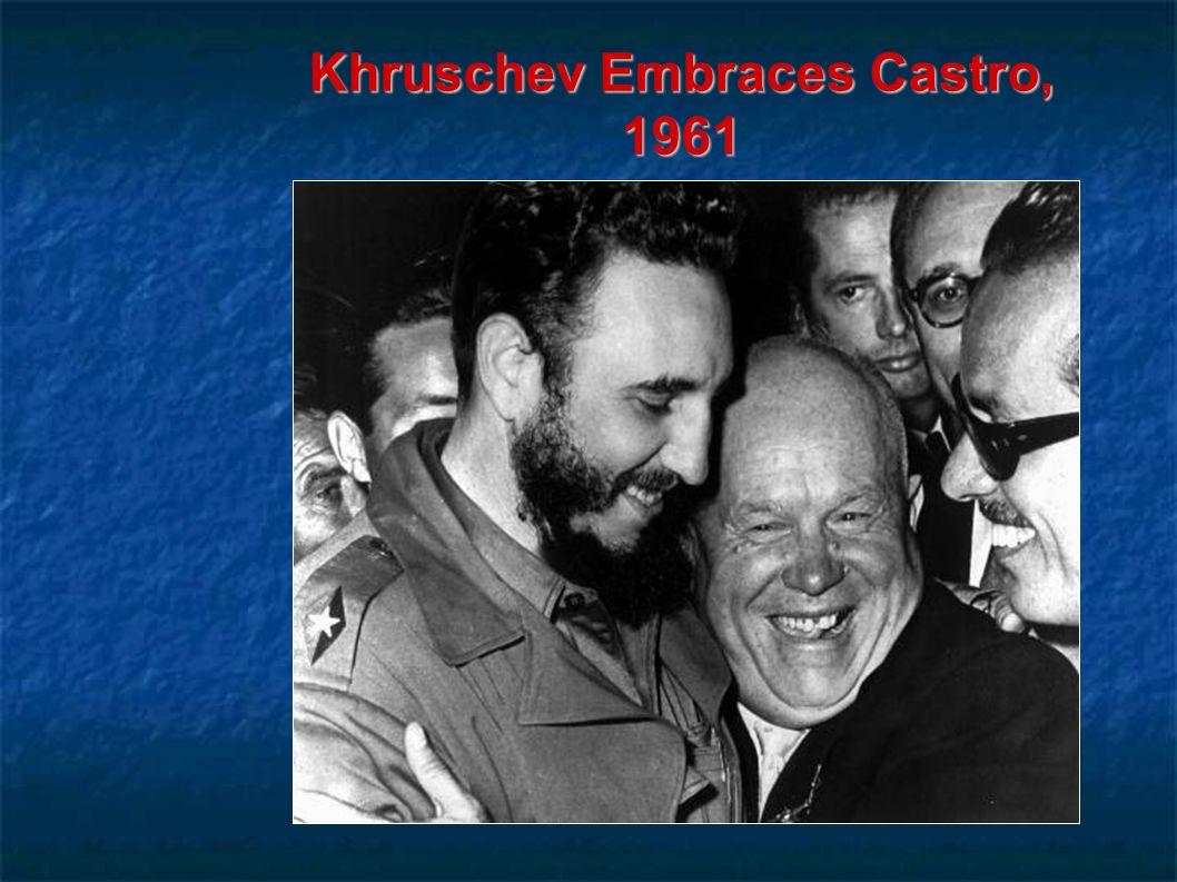 Khruschev Embraces Castro, 1961