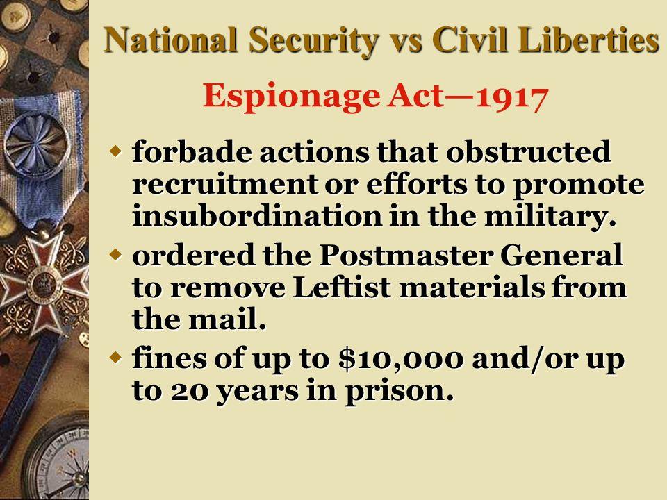 Attacks on Civil Liberties Bill of Rights