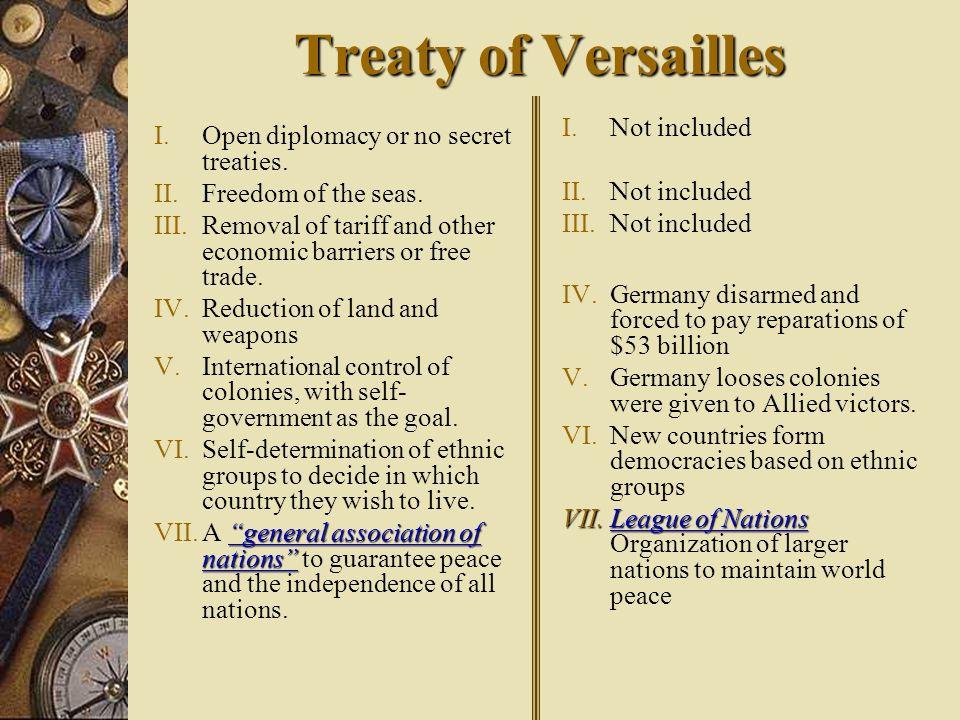 David Lloyd George Vitorio Orlando George Clemeneau Woodrow Wilson Great Britain Italy France U.S. Treaty of Versailles Wilson Forced to Compromise Al